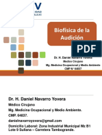Semana 11. Biofísica de la audición.