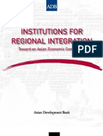 Institutions for Regional Integration