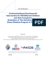 2 Nyangara et al Community-Based Psychosocial Intervention for HIV Affected Children and their Caregivers. Evaluation of The Salvation Army Mama Mkubwa Program in Tanzania