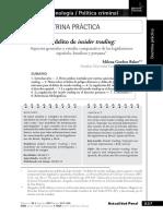 013. Milena Gordon Baker - El delito de insider trading - Aspectos generales y estudio comparativo de las legislaciones española, brasilera y peruana