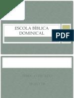 Escola Bíblica Dominical Pecado