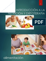 INTRODUCCIÓN A LA NUTRICIÓN Y DIETOTERAPIA