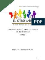 INFORME SOBRE APORTACIONES DE ENCUESTAS 2011