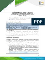 Guía de actividades y rúbrica de evaluación - Tarea 1 - Apropiación de conocimientos básicos