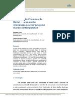 CURY & FALCÃO - Comunicação Digital - Uma Análise Relacionada Ao Estar Juntos No Mundo Contemporâneo