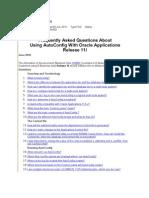 Autoconfig FAQ