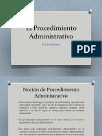 El Procedimiento Administrativo PRIMER PARCIAL