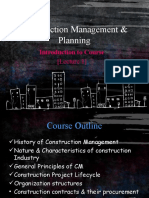 Lec.1. Intro to Construction Management & Planning