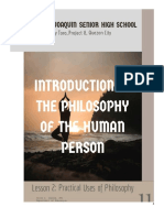 Worksheet 2 PHILOSOPHY Lesson 2
