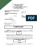 Complaint - Angay vs. Morales