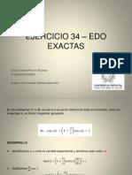 Ejercicio 34 – Edo Exactas