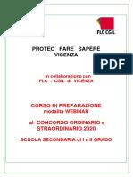 Programma corso preparazione concorso ORDINARIO e STRAORD. SEC. I - II