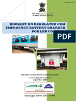 Booklet on Regulated cum Emergency Battery Charger of LHB Coaches