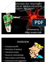 TO UNDERSTAND THE TRETMENT MODALITIES BY NEUROLOGIST