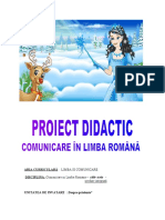 proiect didactic comunicare