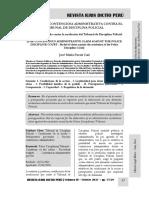 La Demanda Contenciosa Administrativa Contra El Tribunal de Disciplina Policial - Autor José María Pacori Cari