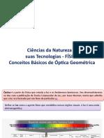 Conceitos básicos de óptica geométrica