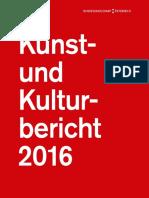 Kunst- und Kulturbericht 2016
