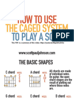How to Use the CAGED System to Play a Solo