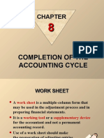 Chapter 8 - Completing the Accounting Cycle