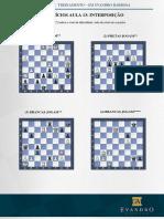 Curso de ches EXERCÍCIOS AULA 13 INTERPOSIÇÃO Curso de chess