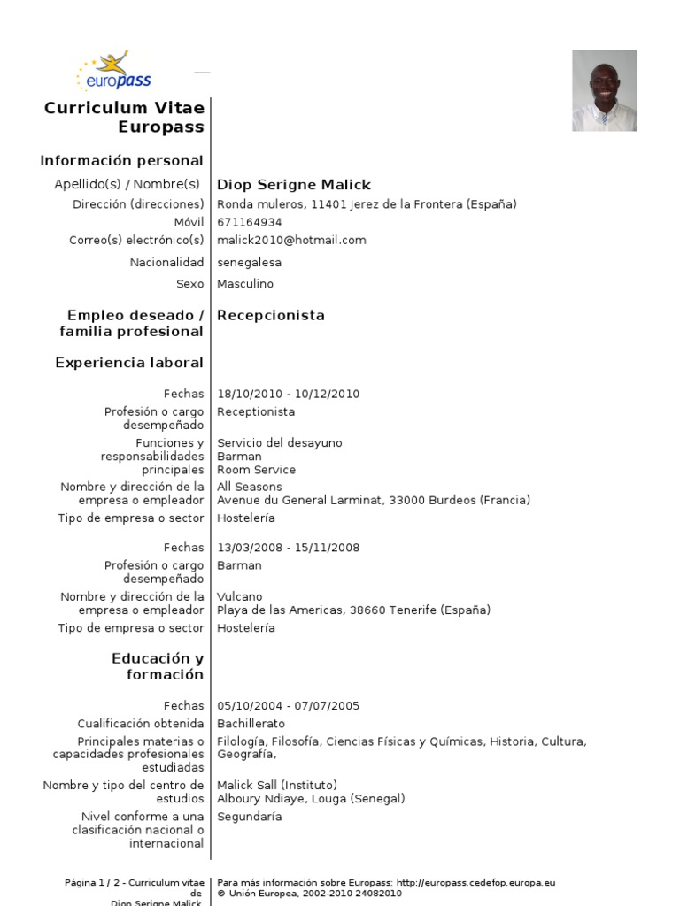 Europass-CV-110106-151338 malick 2011
