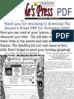 The People's Press November 2007