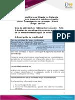 Guía de actividades y rúbrica de evaluación - Unidad 1- Reto 2- Análisis de una situación problema