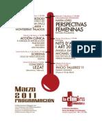 programa cultural clínico - marzo 2011