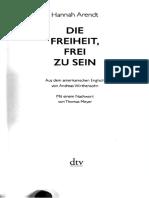 Die Freiheit, Frei Zu Sein by Hannah Arendt (Z-lib.org)