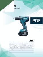 Makita DDF459 service manual