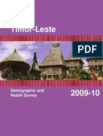 East Timor Demographic and Health Survey 2009 2010