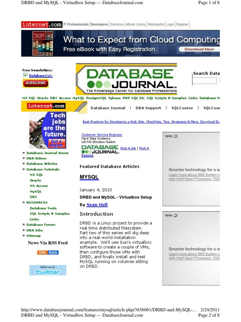 DRBD-and-MySQL_Virtualbox | Virtual Machine | Oracle Database