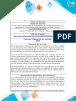 Anexo 1 - Ficha de lectura para el desarrollo de la fase 4