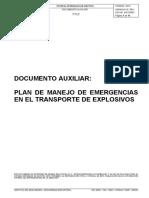Plan de manejo de emergencias en el transporte de explosivos