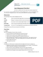 Paul s Project Management Cheat Sheet