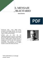 EL MENSAJE PUBLICITARIO PRESENTACIÓN PARA SEMIÓTICA