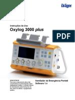 ventilador de transporte oxylog 3000 plus