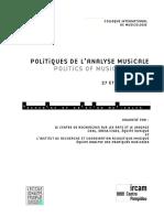 colloque- politique de l'analyse musicale- programme