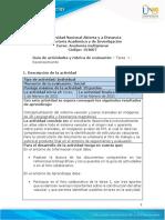Guia de actividades y Rúbrica de evaluación - Unidad 1 - Tarea 1 - Reconocimiento