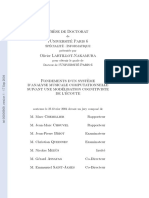 Fondements d'Un Syst`Eme d'Analyse Musicale (Thèse Integrale)