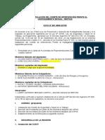 ACTA DE CONSTITUCIÓN E INSTALACIÓN DEL COMITE CONTRA EL HOSTIGAMIENTO