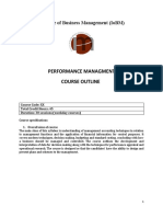 Outline - Performance Measurement and DM