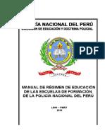 MANUAL DE REGIMEN DE EDUCACION DE LAS ESCUELAS DE FORMACION 2010