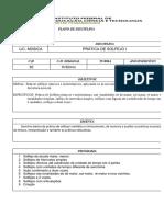 Plano de Disciplina - Pratica de solfejo 1 - 2017.2