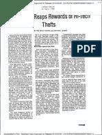 Articol Mihai Pacepa despre hotii hi tech din 1985