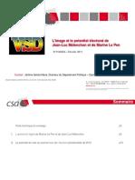Sondage CSA - VSD - Marine Le Pen et Jean-Luc Mélenchon