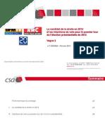 SONDAGE CSA - BFM TV - RMC - 20 MINUTES - Le Candidat de La Droite en 2012 Et Les Intentions de Vote Pour 2012