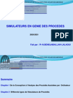 Cours simulateurs de Procédés-bendjaballah-lalaoui