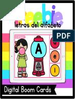 Letras Del Alfa Be to Boom Cards